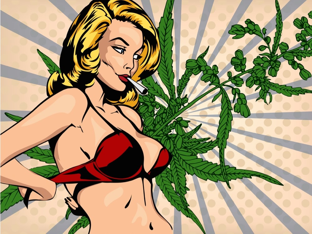 Sexe, Cannabis, Weed, cul,